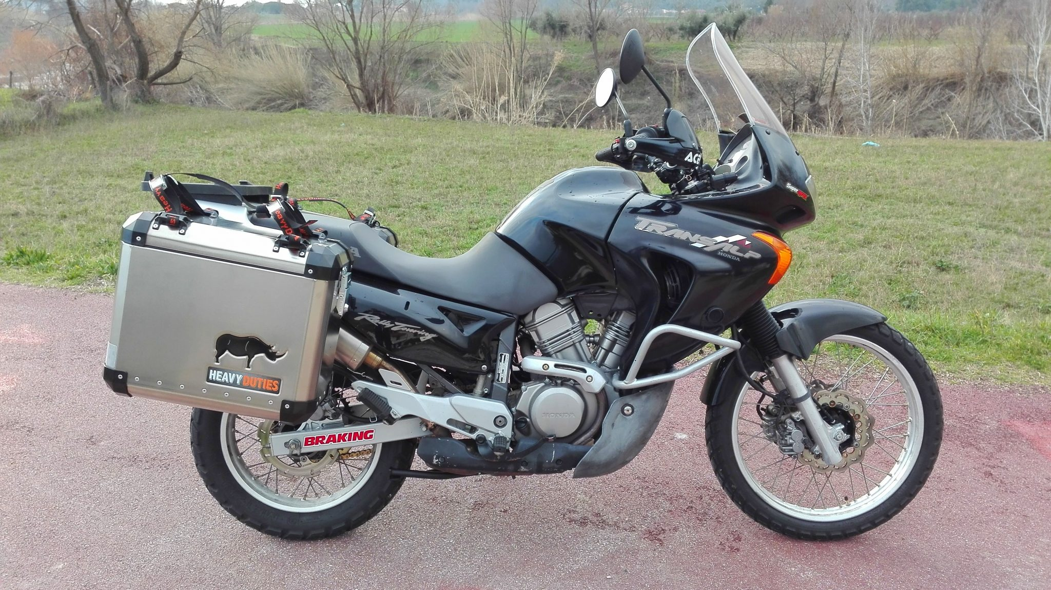 honda transalp 650 panniers heavy duties. Black Bedroom Furniture Sets. Home Design Ideas